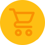 Pedigree® yellow shopping cart logo