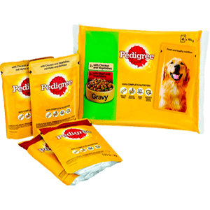 Adult wet pouch with gravy multipack