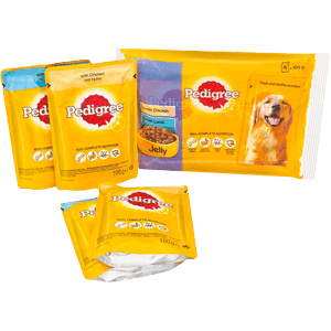 Adult wet pouch with jelly multipack